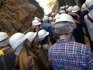 Visiting the archaeological site